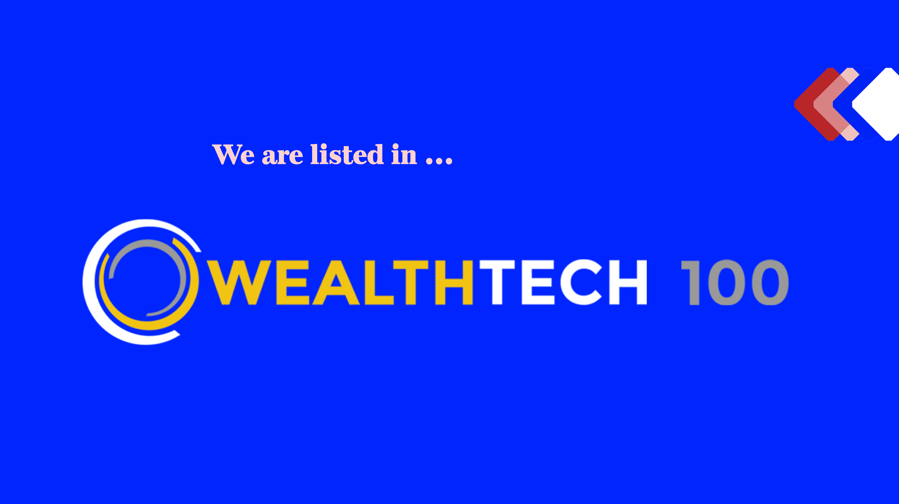 InvestSuite has been recognised as one of the world's most innovative solution providers in WealthTech100 for 2020