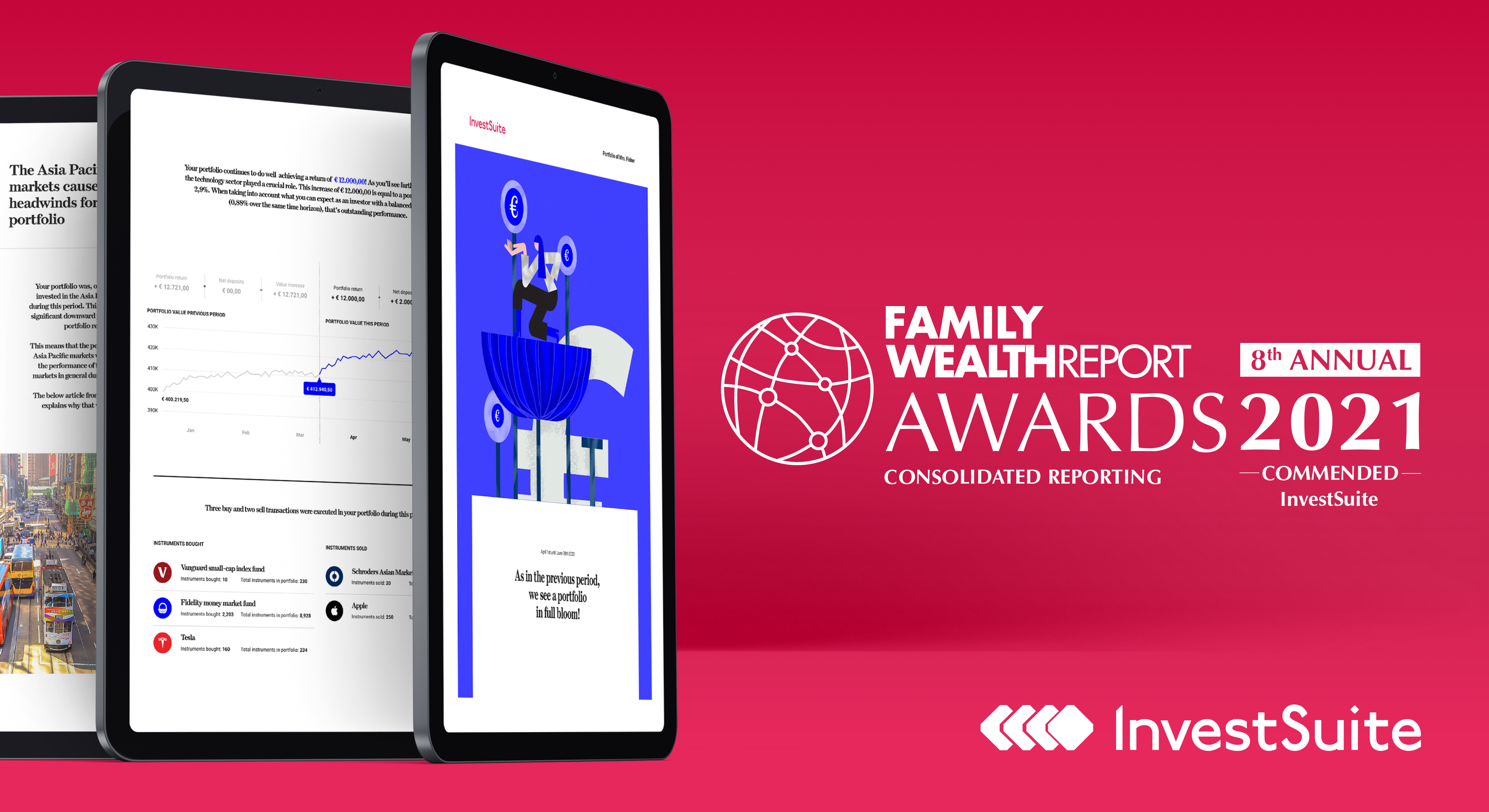 InvestSuite has been commended in the Consolidated Reporting category at the 8th Family Wealth Report Awards.